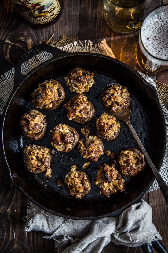 Sausage Stuffed Mushrooms by Jelly Toast, perfect for the big game!