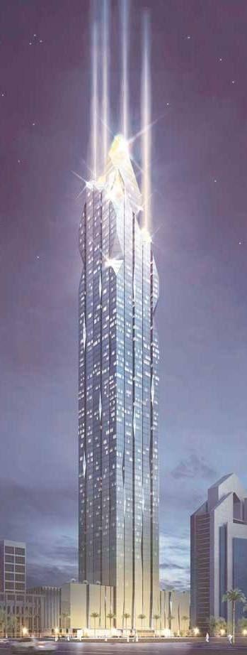 Riyadh Tower, Riyadh, Saudi Arabia designed by Nikken Sekkei :: 73 floors, height 338m :: proposal