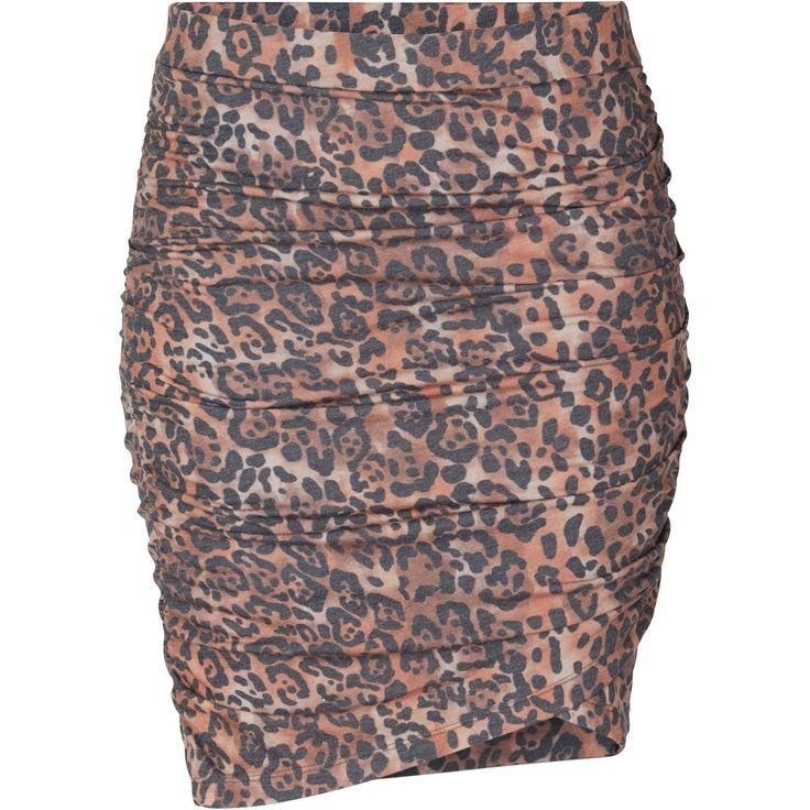 Jeanna skirt Cool wrap effect skirt with leo print. Black Swan Fashion SS17
