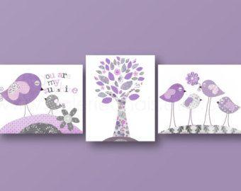 Set of 3 Prints Les Oiseaux baby nursery decor by GalerieAnais
