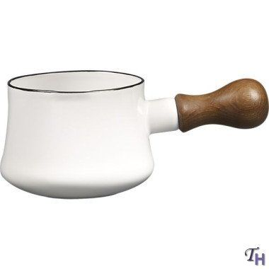 Dansk Kobenstyle White Butter Warmer by Dansk. $54.95. Ware Type:ENAMELWARE. As you stir the butter to warm or melt it, you can safely hold this pot's wood handle - it won't get hot. Use the butter warmer for syrup and sauces, too.