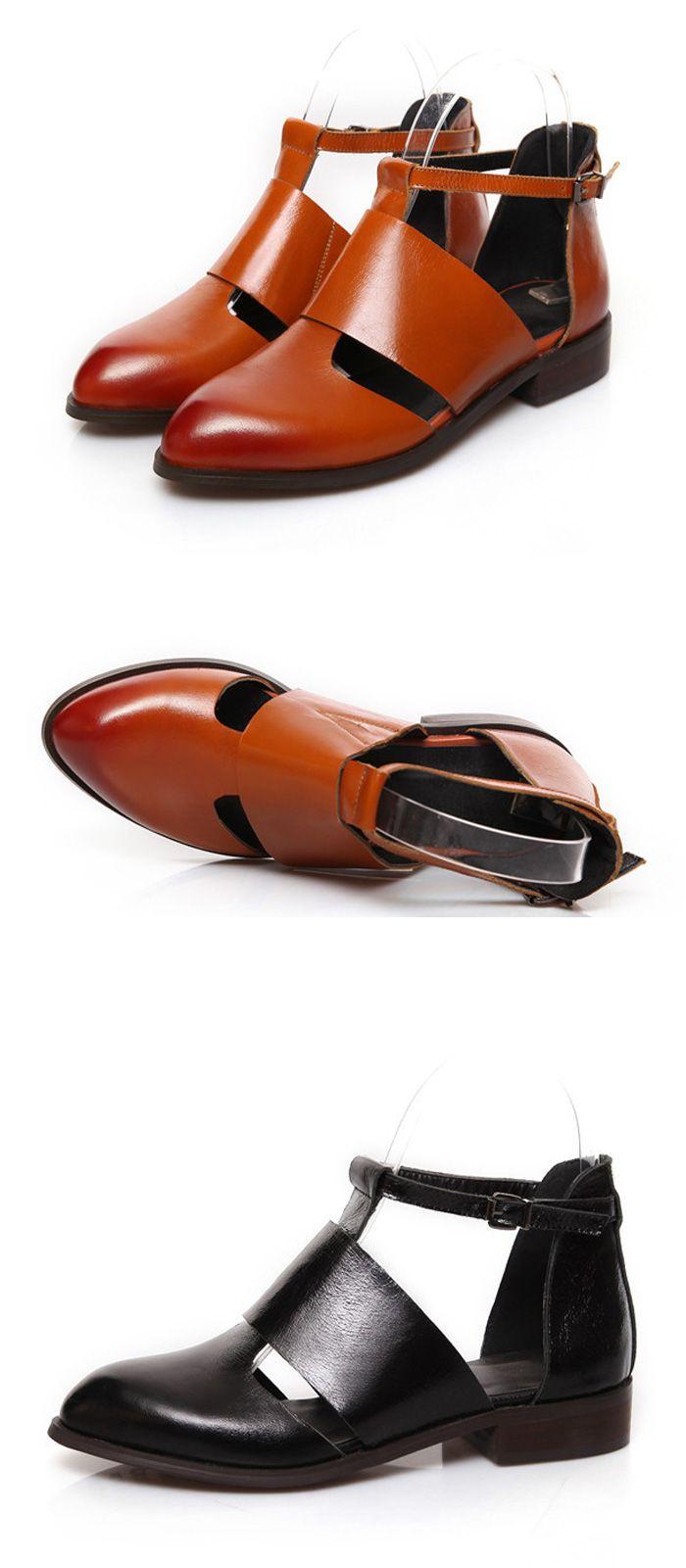 Тренд 2015 года летние сандалии из натуральной кожи, женская обувь http://ali.pub/2fskn 2015 new oxfords genuine leather women's shoes cut out chaussure femme huarache mocassin for woman sapatos femininos flats.