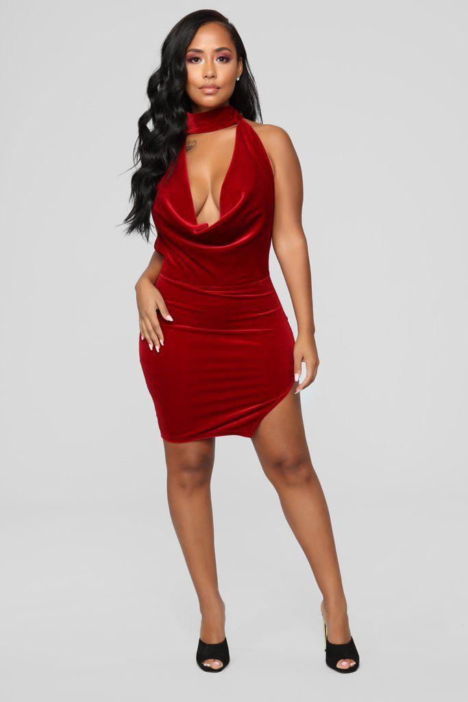 2f2b329b2409 In Lust With You Velvet Dress - Red in 2019 | Fashion 3 | Red velvet ...