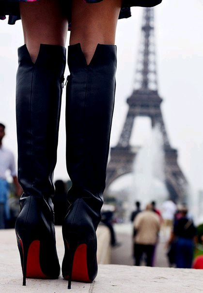 Louboutin over the knee boots! If you like my pins, please follow me and subscribe to my new fashion channel! It's free! Let me help u find all the things that u love from Pinterest! https://www.youtube.com/watch?v=XSiQP5OFjXE&list=UUCP8TXebOqQ_n_ouQfAfuXw
