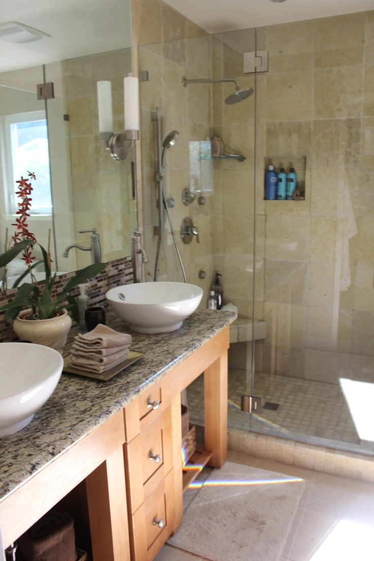 Images About Small Master Bath On Pinterest Maximize Space - Small master bathroom