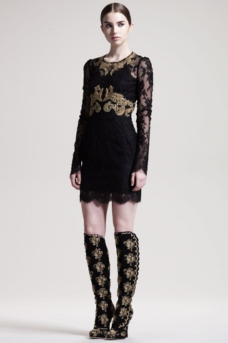 Embroidered Fitted Dress