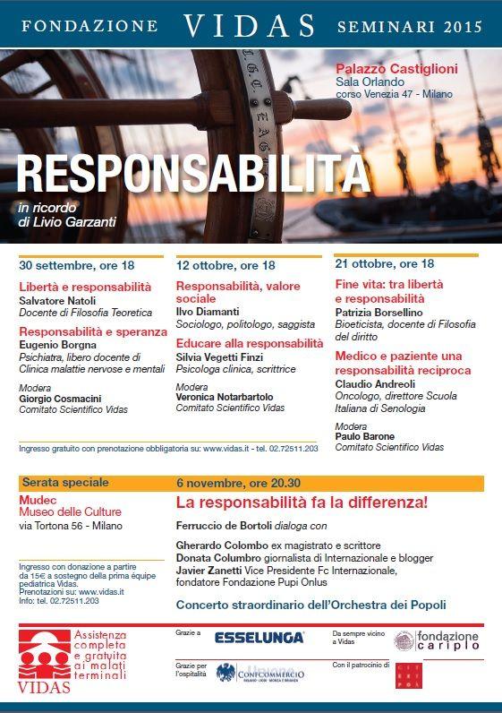 Seminari 2015 sul tema #Responsabilità: prossimo appuntamento lunedì 12 ottobre