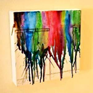 Make melted crayon art