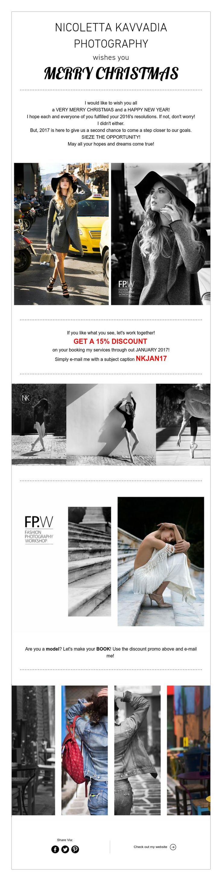HOLIDAY GREETINGS with a NEW YEAR OFFER!