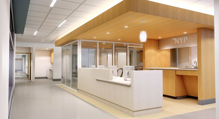 Nurse Station Design Study - ADA sink out of scale, but interesting concept