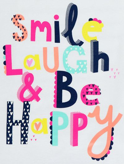 Colourful, fun & playful typography print | George at Asda via Print and Pattern