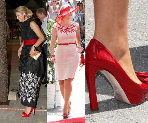 Maxima with red Miumiu shoes