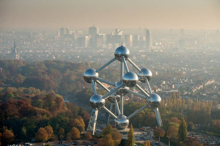 The best #panoramic #view over #Brussels is from the #Atomium #panorama #autumn #colour