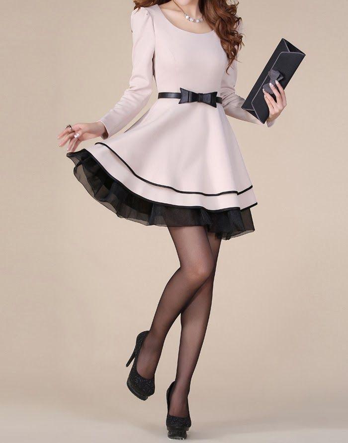 Branco e preto curto