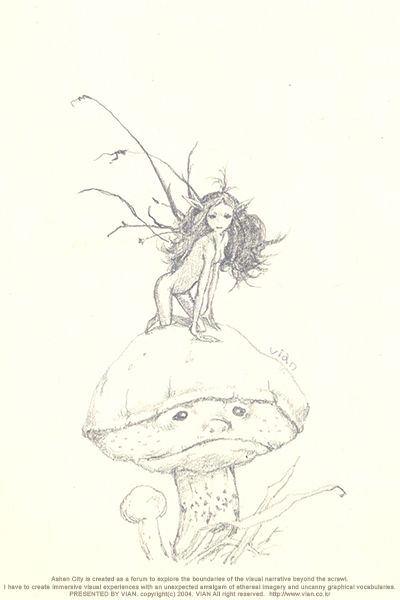 a Little Fairy. 2009 2b pencil on moleskine