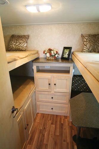 Rv bunk beds camping pinterest open roads middle for Rv loft bed