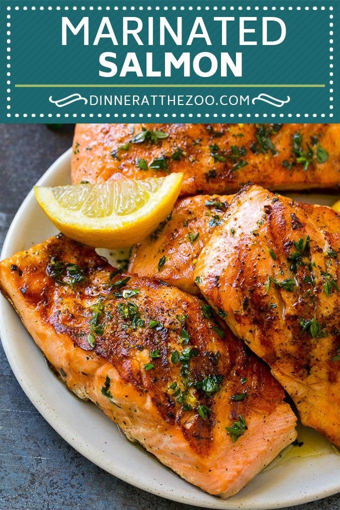 Marinated Salmon Recipe Grilled Salmon Garlic And Herb Salmon Salmon Grilling Marinade Fish Grilled Salmon Recipes Salmon Steak Recipes Salmon Recipes
