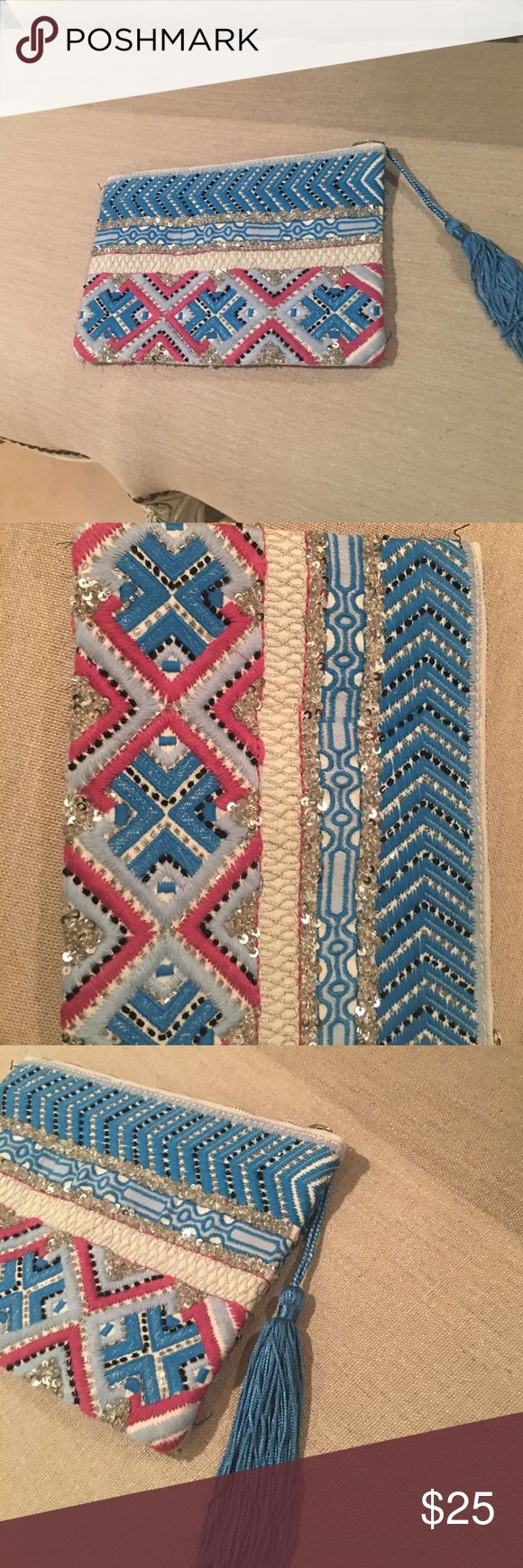 RAJ Beaded Clutch NWOT RAJ Beaded Clutch NWOT RAJ Bags Clutches & Wristlets