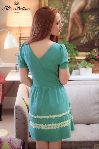 Edelweiss Dress in powder green