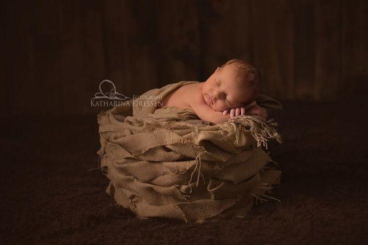 Jute Nest VINTAGE Baby Fotografie  von Zauberhafte Kleinigkeiten auf DaWanda.com