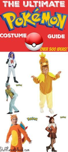 Every character from Pokemon Go and then some are included in this roundup of ready made and DIY Pokemon Halloween costumes
