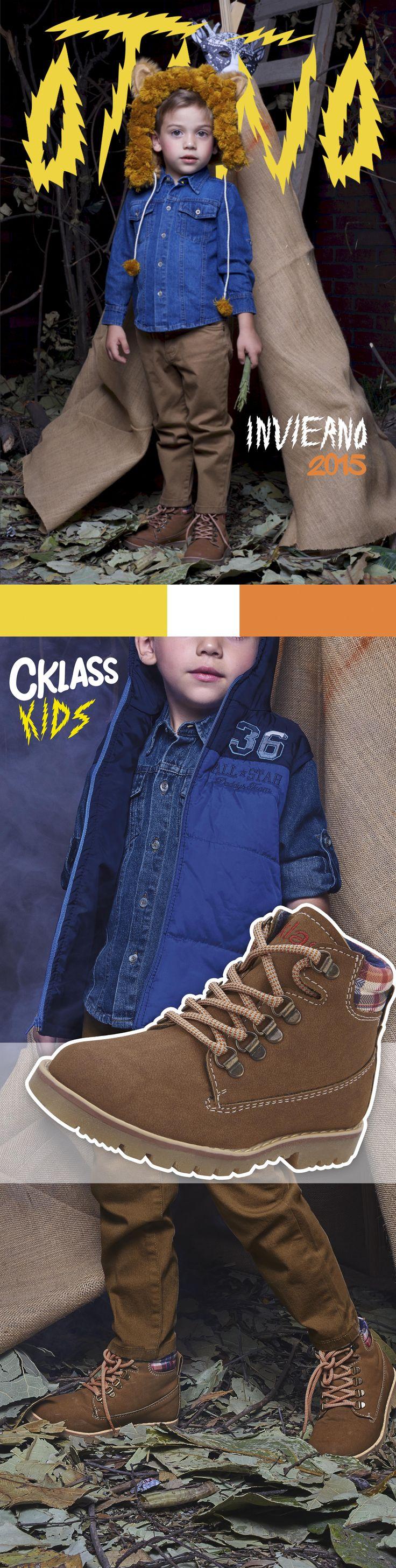 Esta temporada encuentra lo mejor de la moda infantil  de #Cklass para esos pequeños a los que les encantan las aventuras, pues no puede faltar en su armario una camisa de denim y botas de cordones con la que estará cómodo y listo para sus aventuras.