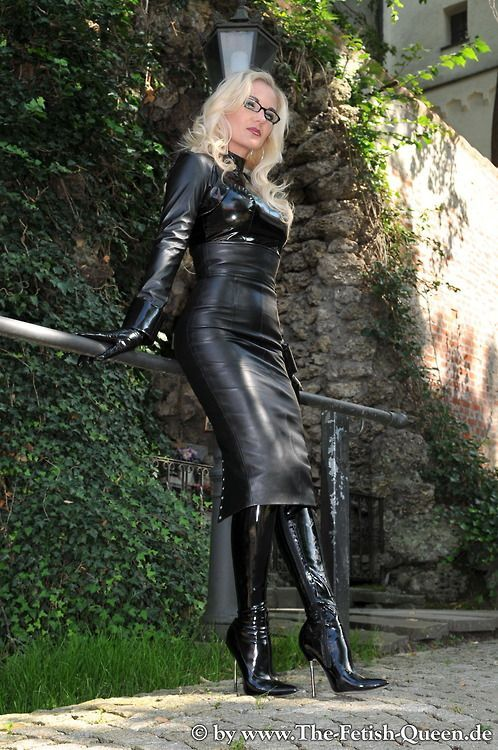 Queen Heike 13 Heike Leather Dresses Leather Leggings