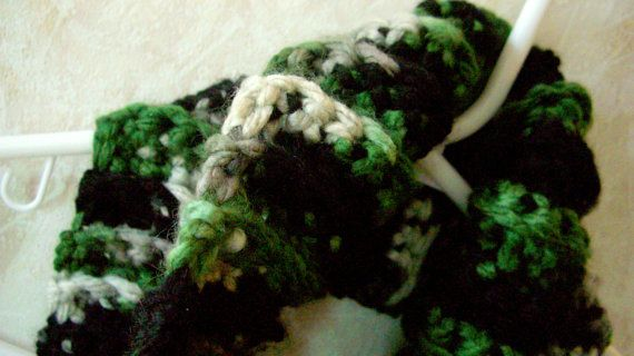 Winter Cowl Scarf Unisex Camo Crochet by KrystalzKreations on Etsy, $30.00