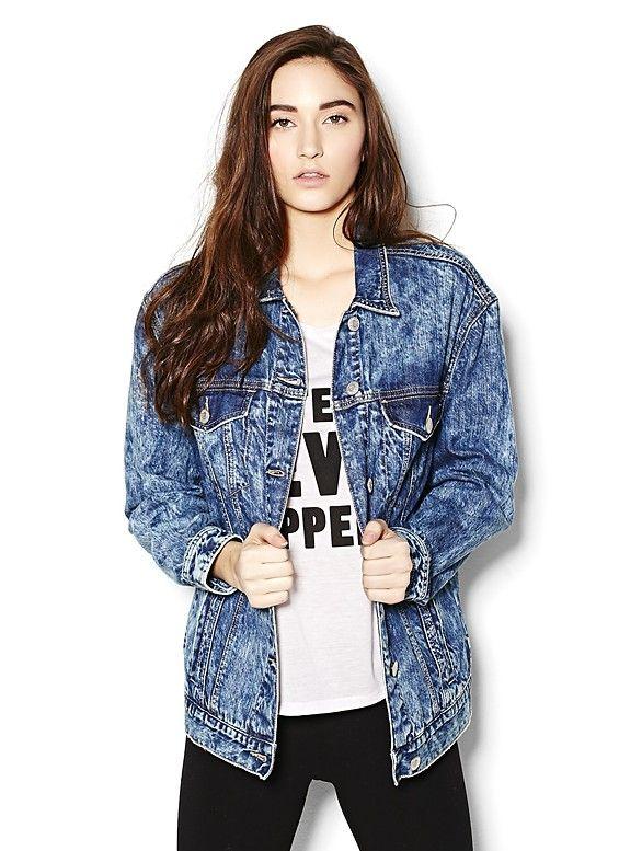 Ryans Blue Boyfriend Denim Jacket IWEARGARAGE Garage ClothingDenim