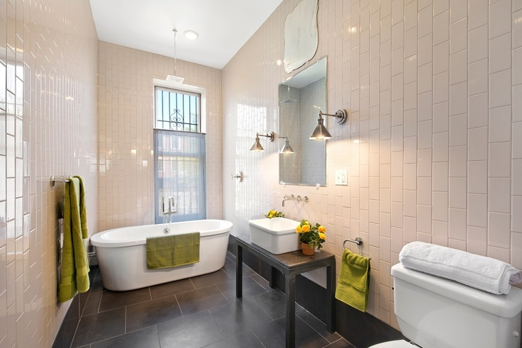 Vertical Subway Tile Bathrooms Pinterest Tile Subway Tiles And Mirror