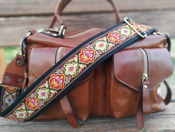 Adjustable Boho DIY Shoulder Bag Strap Replacement Crossbody Handbag Guitar Belt