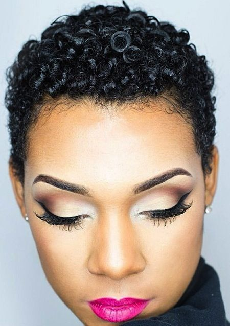 TWA - gorgeous curly short afro.  Teeny weeny afros look amazing for natural hair.