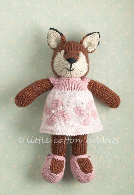 hand knit toys - This fox kills me!!