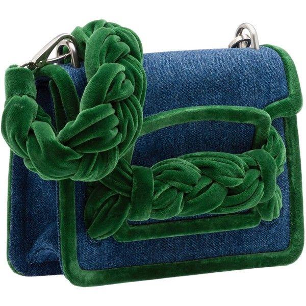 SHOULDER BAG ($1,600) ❤ liked on Polyvore featuring bags, handbags, shoulder bags, flap shoulder bag, green handbags, velvet purses, cell phone shoulder bag and shoulder bag purse