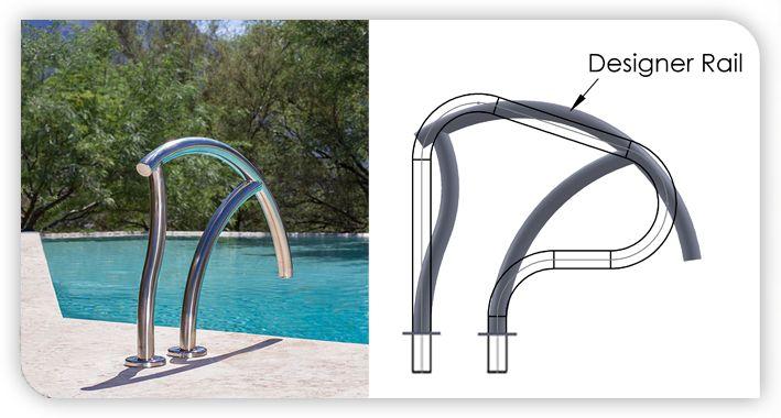 Best 37 Best Metal Pool Handrails Images On Pinterest Ladders 400 x 300