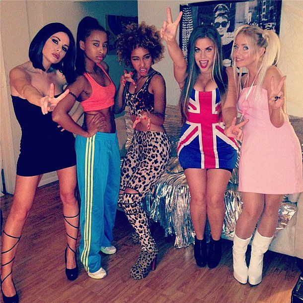 the spice girls spice girls costumesgirl halloween - Girl Group Halloween Costume
