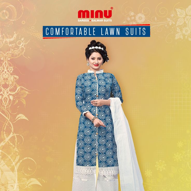 Lawn suits are considered the most comfortable suits throughout the year but especially during summers. http://www.minufashion.com/SalwarSuit/Lawn-Salwar WhatsApp: +91 9674803887 | Call: +91 33-40669241 #Minu #cotton #sarees #salwarsuits #indianwear #ethnicwear #onlineshopping #womenwear #traditional