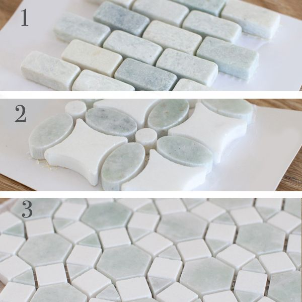 ming green and thassos white mosaic backsplash tile the lettered cottage - Mosaic Tiles