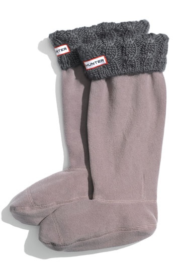 Definitely going to need a pair of these sock inserts in Gray for my Hunter boots!  $40