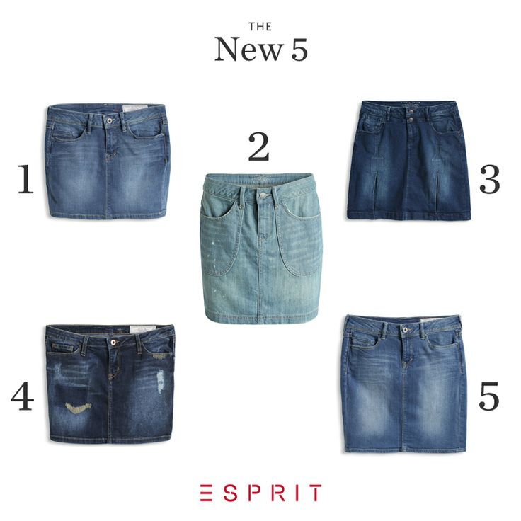 THE NEW5: The #fashion comeback this #spring: The #denim #skirt. Take a look at our #styles for any #occation and #type: