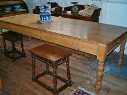 Antiques Pine Farmhouse Table Antique