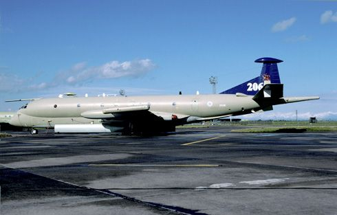 Nimrod XV241 in 206 Sq anniversary colours © Joop de Groot. Now at Scottish National Museum of Flight at East Fortune.