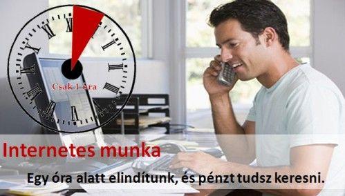 Legyen az Internet a munkahelyed.1 órán belül fel tudod állítani azt a rendszert, amivel online pénzt tudsz keresni. http://tinyurl.hu/5QVj/