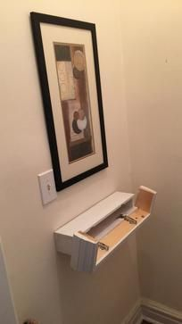 DIY Secret Compartment Floating Shelf. Free downloadable pdf plans. www.DIYeasycrafts.com