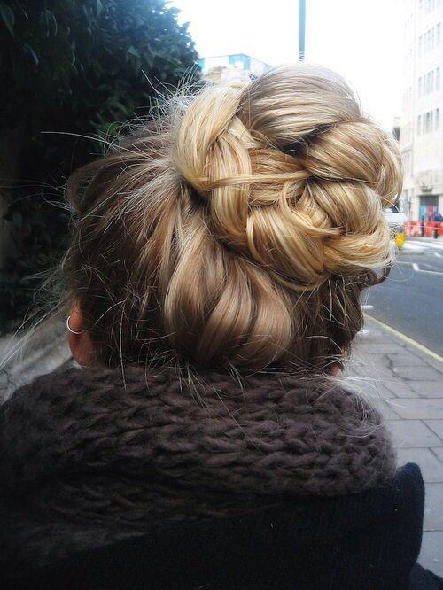 #braid #bun #coque #hair #hairstyle #cabelo #penteado #trança