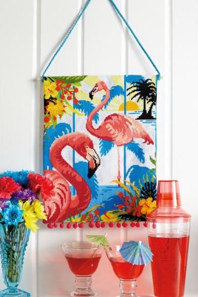 Felicity Hall flamingo pattern