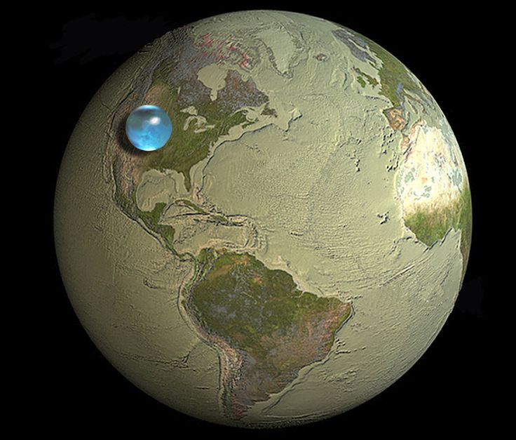All the water on Earth.