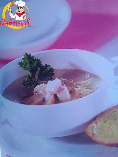 Resep Sup Krim Jamur Daging Asap, Aneka Sup Untuk Anak, Club Masak