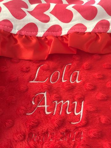 Free Embroidery On All Minky Blankets  www.chubbabubbaboutique.com Lay-by Available