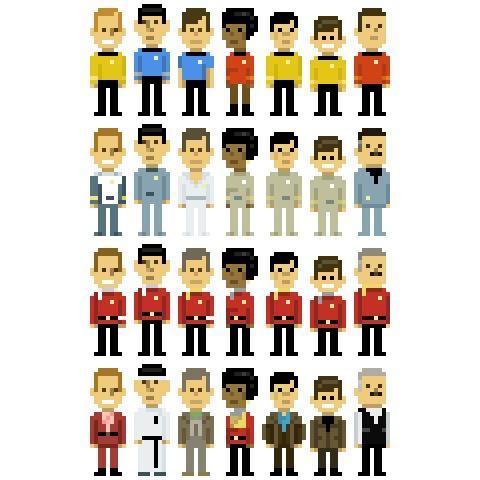 8-bit Star Trek by cartoonist John Martz